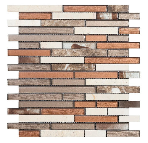Brick Brown Mosaic - Discount Tile And Stone Warehouse