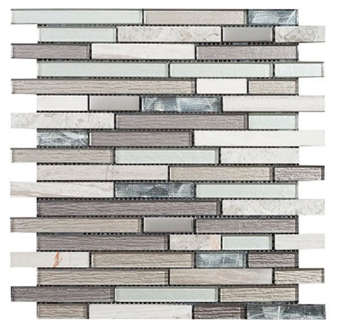 Brick Grey Mosaic - Discount Tile And Stone Warehouse