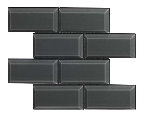 Metro Bevel Graphite Mosaic - Discount Tile And Stone Warehouse