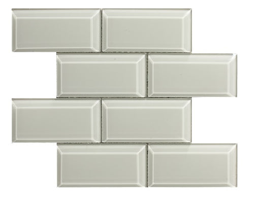 Metro Bevel Bone Mosaic - Discount Tile And Stone Warehouse