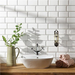 Metro Bevel White Gloss Wall Tile - Discount Tile And Stone Warehouse