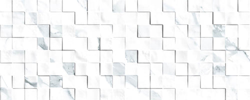 Alba Carrara Mosaic Gloss Wall Tile - Discount Tile And Stone Warehouse