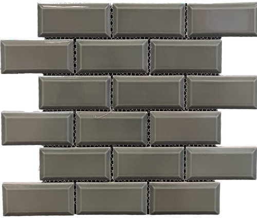 Metro Bevel Dark Grey Mosaic - Discount Tile And Stone Warehouse