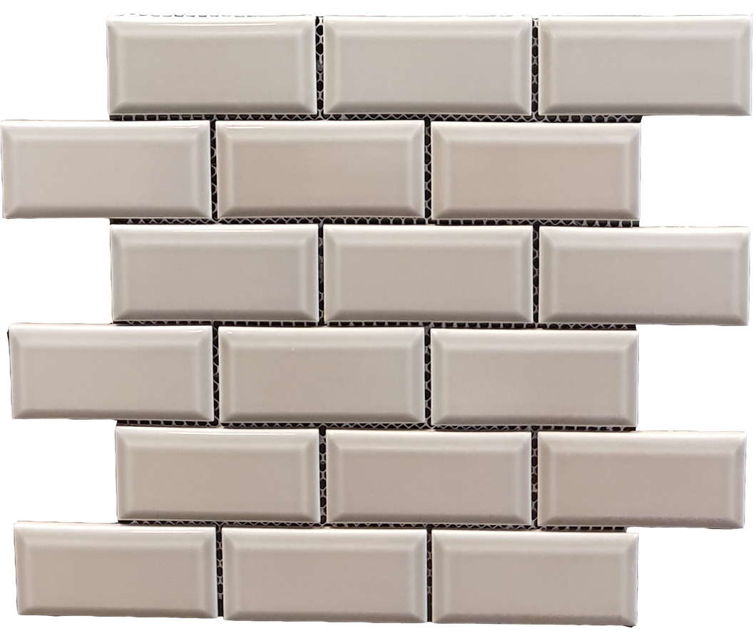 Metro Bevel Light Grey Mosaic - Discount Tile And Stone Warehouse