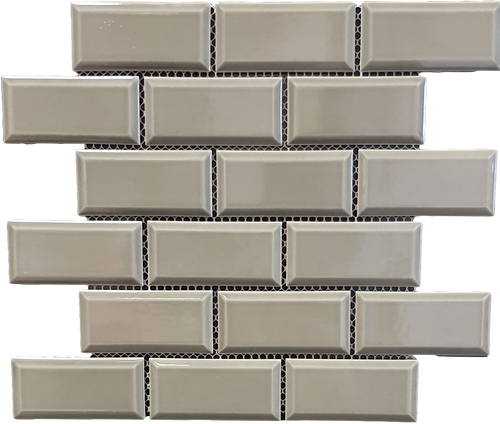 Metro Bevel Mid Grey Mosaic - Discount Tile And Stone Warehouse