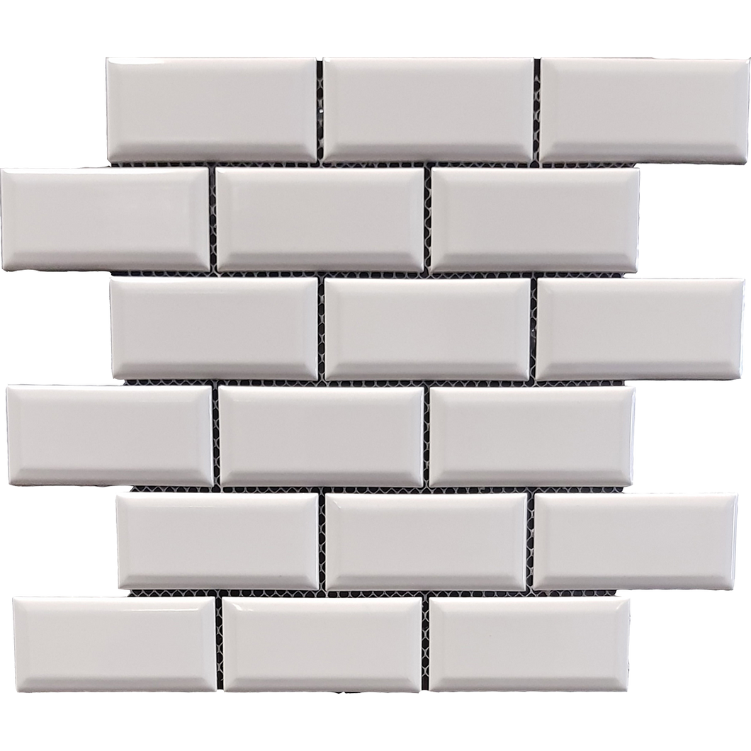 Metro Bevel White Mosaic - Discount Tile And Stone Warehouse