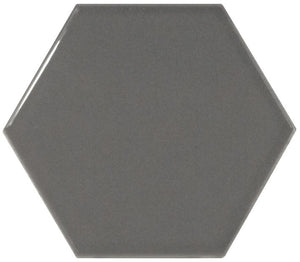 Hexagon Dark Grey Gloss Wall Tile - Discount Tile And Stone Warehouse