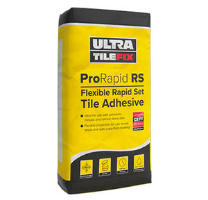 PRORAPID RS: FLEXIBLE RAPID SET TILE ADHESIVE 20kg Grey