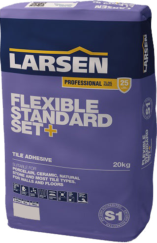 Grey Standard-Set Flex Tile Adhesive 20kg Bags- single £11.66 +VAT