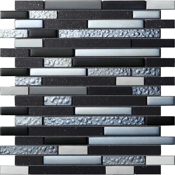 Quartz Black Mosaic - Discount Tile And Stone Warehouse