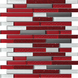 Quartz Red Mosaic   Discount Tile Supplies