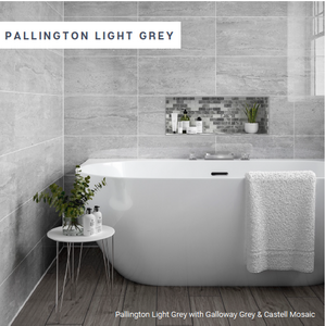 Pallington Light Grey | P10938 250 x 500 x 9mm Gloss ceramic, wall only
