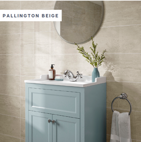 Pallington Beige | P10940 250 x 500 x 9mm  Gloss ceramic, wall only.
