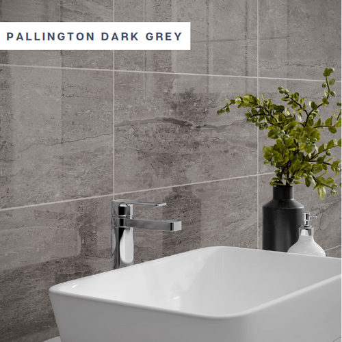Pallington Dark Grey | P10939 250 x 500 x 9mm  Gloss ceramic, wall only.