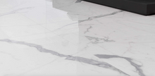 Carrara Pantheon White Marble Effect Polished Porcelain Tile 600 x 600mm
