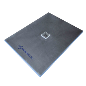 Imperboard 1200 x 1000mm Centre Drain Rectangle Shower Tray - Discount Tile And Stone Warehouse