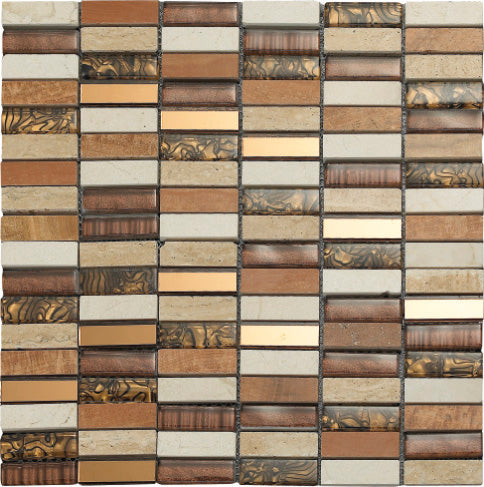 Safari Tiger Mosaic - Discount Tile And Stone Warehouse