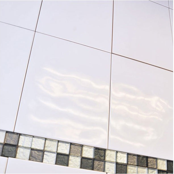 Elegance White Gloss Marble Effect Ceramic Floor Tile: Super Relief Bumpy White Wall Tile