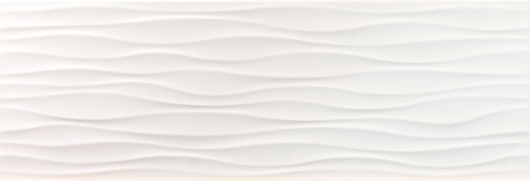 Cool White Ondas Wave Gloss Wall Tile - Discount Tile And Stone Warehouse