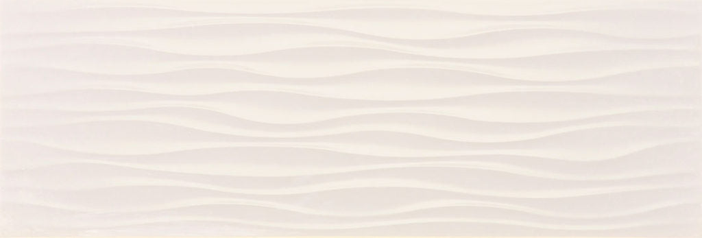 Touch White Ondas Wave Matt Wall Tile - Discount Tile And Stone Warehouse