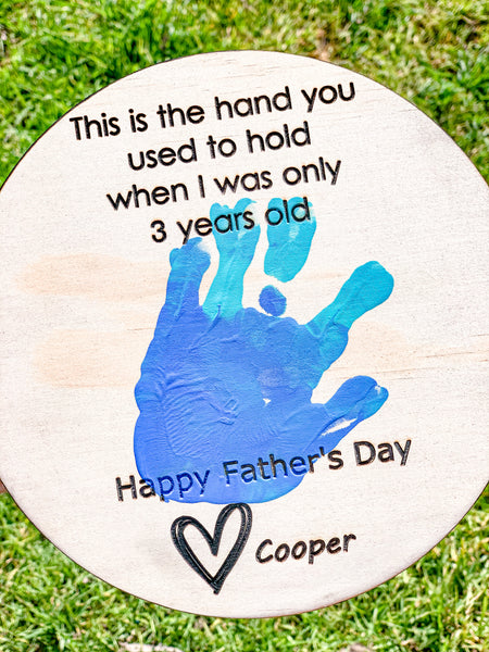 Father's Day Handprint Plaques