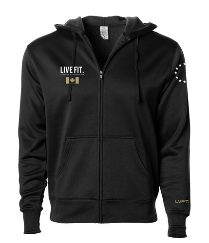 LVFT Men's Canada Athlete Zip Hoodie