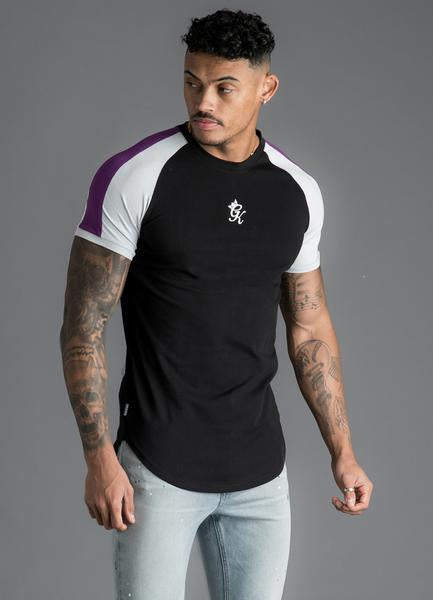 Gym King Men's Longline Retro Stripe T-shirt