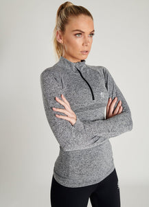 Gym King Ladies Sport Results 1/4 Zip Longsleeve Top