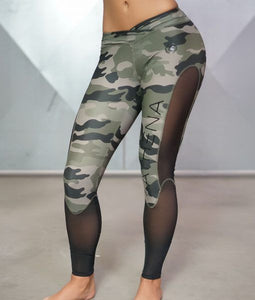 Body Engineers Ladies Athena Camo Tights