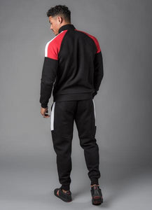 Gym King Men's Core Plus Contrast Funnel Neck Tracksuit Top