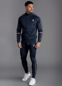 Gym King Men's Diego Retro Taped Poly Tracksuit Bottoms