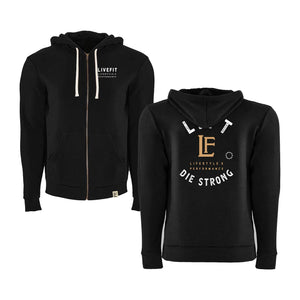 LVFT Men's Die Strong Zip Up