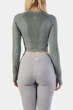Jed North Ladies Supple Seamless Long Sleeve Crop Top