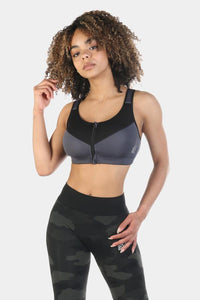 Jed North Ladies Dash Zip-Up Performance Sports Bra
