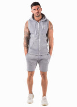 Gym King Men's Sleeveless Zipped Hoodie