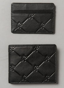 Gym King Diamond Embossed Leather Card Holder