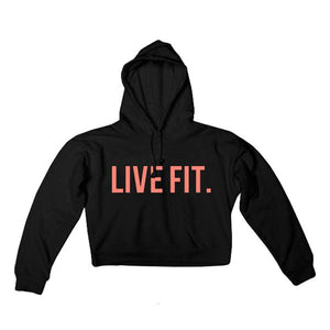 LVFT Ladies Live Fit. Crop Hoodie