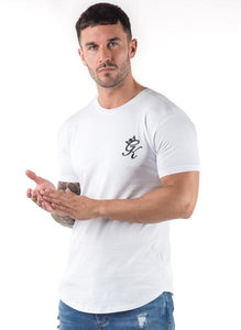 Gym King Men's Longline Fitted T-shirt