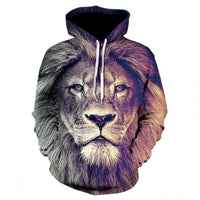 Men's new animal-print hoodie 3d lion head hoodie for fall,  brand hoodie fashion tracksuit street coat