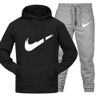 Track suit men's 2 sets of new fashion jacket men's sportswear hoodies spring and autumn brand men's hip hop hoodie sweatpants