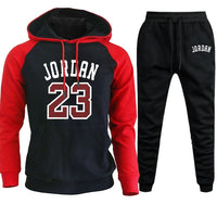 Jordan 23 Tracksuit Men Sets Winter Hoodies Pants 2 Piece Set Hoody Mens Sweatshirt Sport Joggers Sweatpants Suit