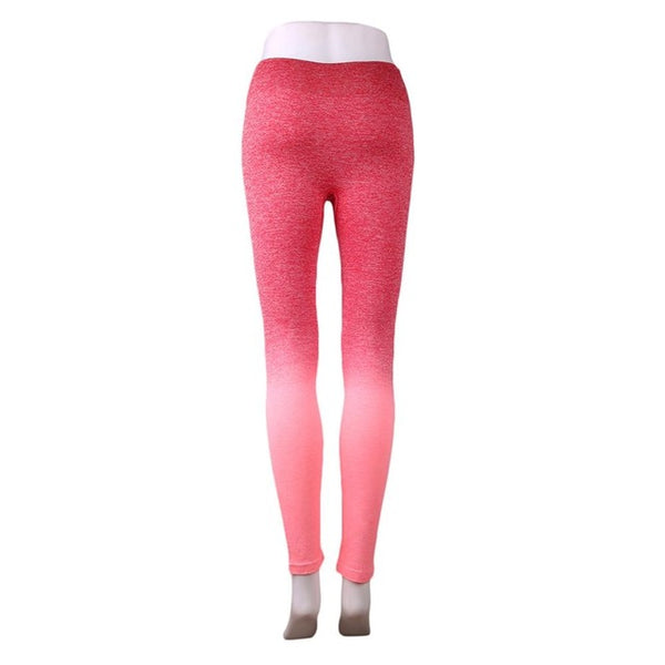 Woman Gradually Changing Color Yoga Pants Slim Fast Dry Breathable Fitness Pants Ankle Length Pants Legging Pants