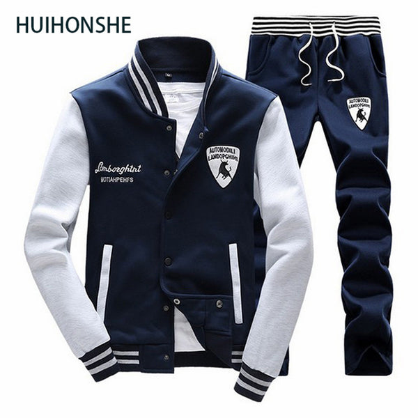 New High Quality Fashion Men Tracksuit Spring Autumn New Pattern Male Sweat Suit Long Sleeve Baseball Man Pants Sweatshirt Set