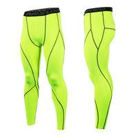 Quick Dry Mens Sport Leggings Running Tights Compression Running Training Tights Trousers 3 Colors Gym Fitness Clothes Bottom