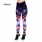 Qickitout Leggings Geometric stars pattern women's casual spring and autumn pants