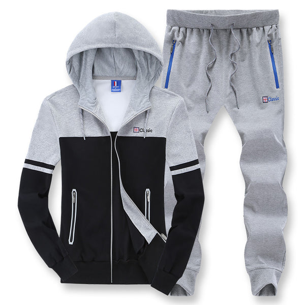 Hoodie Zipper Sweatshirt + Pants Sweat Suits