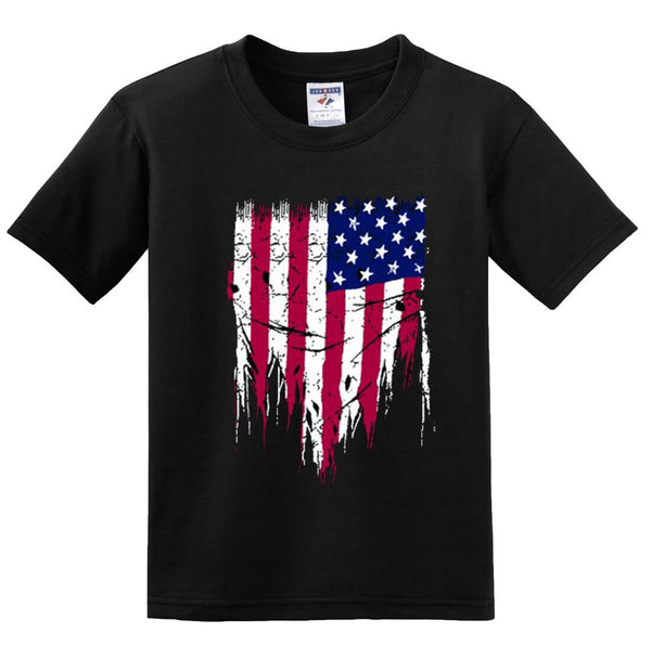 ! USA Unfinished American  Memorial Independence Day Patriotic T-shirts