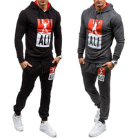 Plus size Hot Fashion Men's Hooded Sports Sweatsuit Jogging Suit