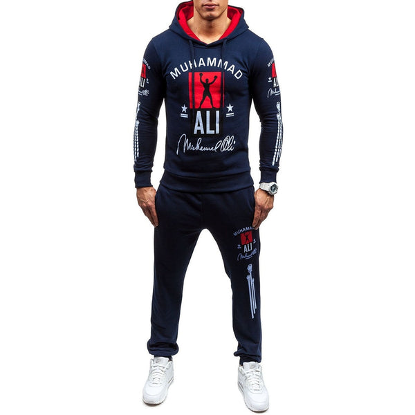 ZOGAA Men Tracksuits Outwear Hoodies Printed Sportswear Two Piece Sets Male Men's Sweatsuit Outfit Plus Size XS-4XL