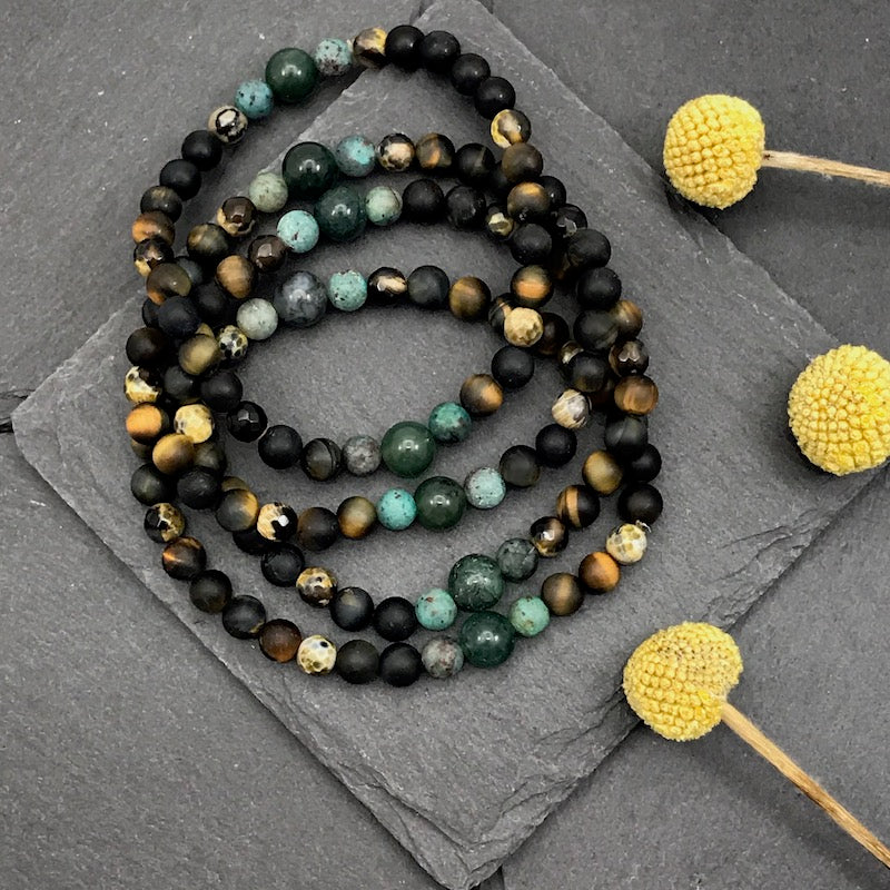 Men's Beaded Stretch Bracelet